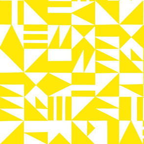 Abstract Cutouts Yellow