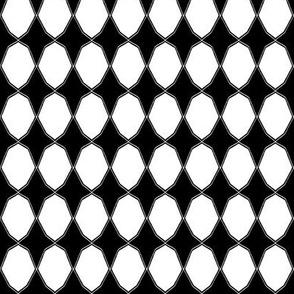 Decagons in black