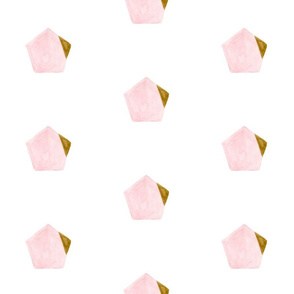 Watercolour Pink & Gold Hex