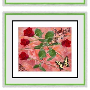 Stemmed Roses Butterfly Crafting