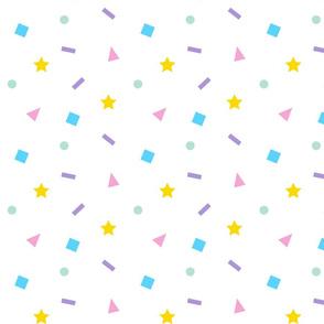 Confetti Color on White