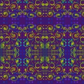 Mardi Gras Party - Dots, Spots and Swirls on Deep Purple