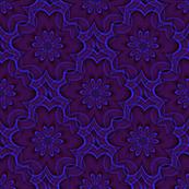 Digital floral blue and purple