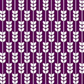 Wheat - White on Plum, Small