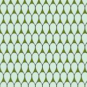 Teardrop design in mint