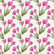 Ditsy Pink Tulips