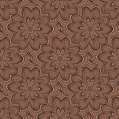 Digital floral brown