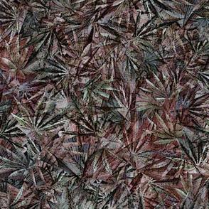 Grunge Cannabis Leaves