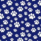 Doggie Paws - Dark Blue - Small