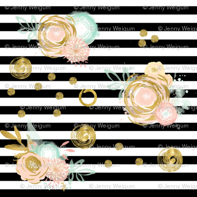 Black_stripes__pink_and_gold_flowers_preview