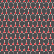 Teardrop Design in red and grey