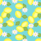 Lemon, Leaf, and Flower Cascade