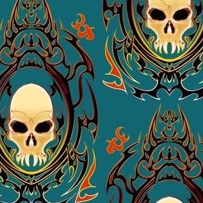 Gothic Vampire Skull 2