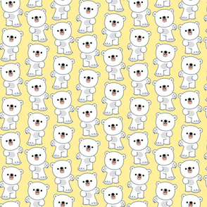 Laughing Little Polar Bears Yellow by Cheerful Madness!!