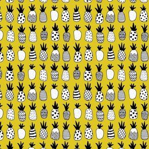 Trendy summer spring geometric pineapple fruit scandinavian style yellow mustard