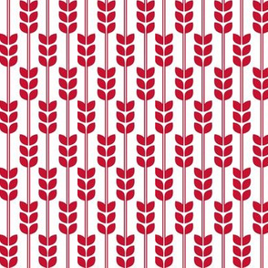 Wheat - Red on White, Small
