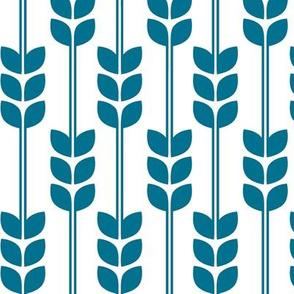 Wheat - Blue on White