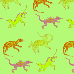 Green Lizards by Sara Aurora Waters