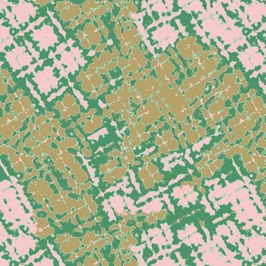Distorted Plaid in Lush Meadow,