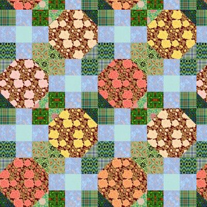 Snowball Roses and 9 Patch Leaves