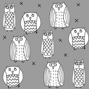 Owls Gray