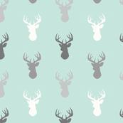 Deer-Mint/Grey/Off-White - Woodland - Gender neutral baby
