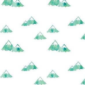Mountains // green