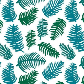 Green summer colors leaf illustration garden pattern green blue