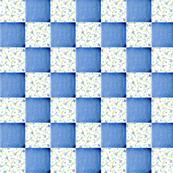 Patchwork Floral Blue