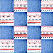 Patchwork folk blue