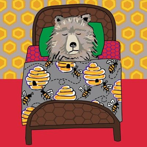 quilt block 3 of 3: dream honey bear