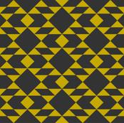Navajo Inspired Geometric Gold on Slate
