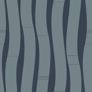 Wavy Navy vertical stripes