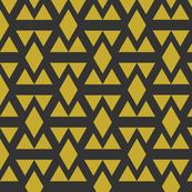 Geometric Triangle Diamonds Gold on Slate