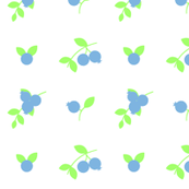 Blueberry Delight in Blue and Green II