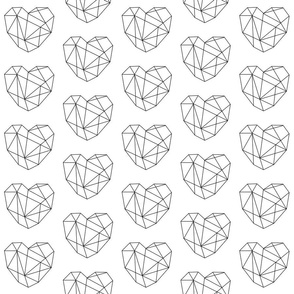 Geometric Heart - Black
