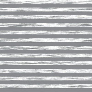 Stripes Grunge Pencil Charcoal Grey & White