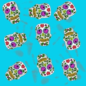 New Sugar Skulls with handprints