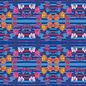 Paper Posies &  Stripes Navy