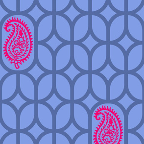 PAISLEY DIAMOND - BLUE/MAGENTA