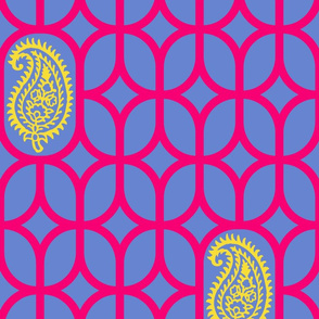 PAISLEY DIAMOND - BLUE/RED/YELLOW