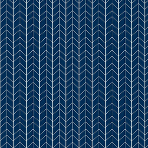 Small Arrow Chevron - Navy