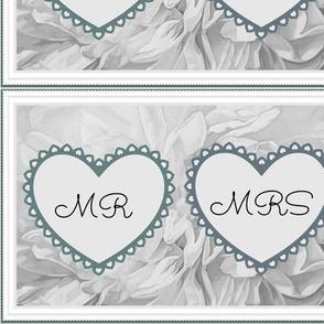 Mr & Mrs Wedding Hearts Bride