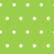 Lime Green Polka Dots