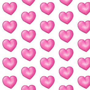 fat pink hearts