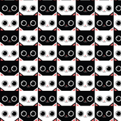 Cat Faces Black and White