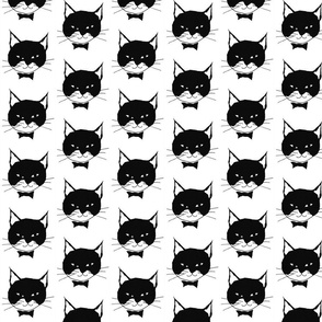 Black Cats on White - Small