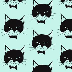 Black Cat on Mint