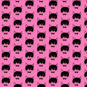 Black Cats on Pink