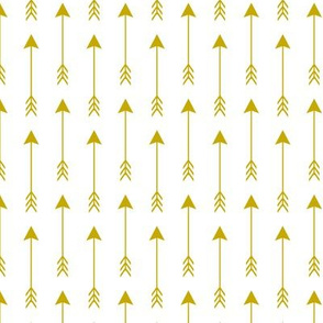 Arrows Gold on White Vertical Solid